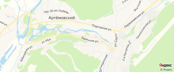Карта Артемовского поселка в Иркутской области с улицами и номерами домов