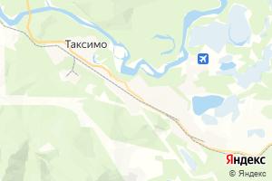 Карта пос. Таксимо Республика Бурятия