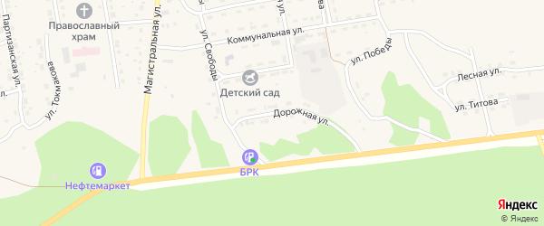Дорожная улица на карте села Нижнего Цасучея Забайкальского края с номерами домов