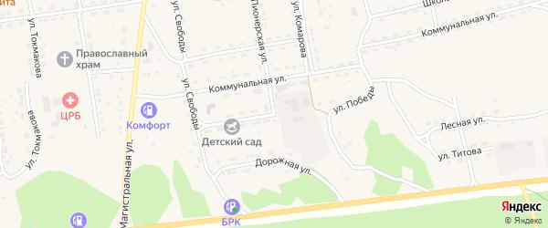 Улица Победы на карте села Нижнего Цасучея Забайкальского края с номерами домов