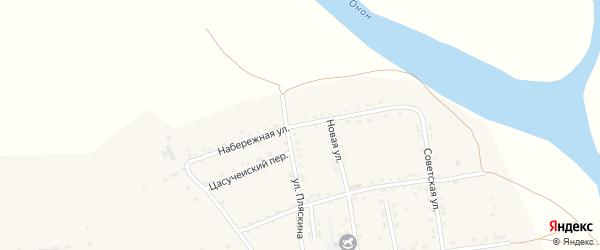 Набережная улица на карте села Нижнего Цасучея Забайкальского края с номерами домов