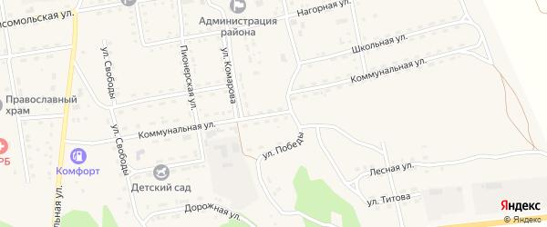 Коммунальная улица на карте села Нижнего Цасучея Забайкальского края с номерами домов