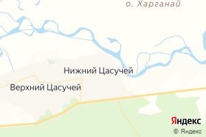 Карта с. Нижний Цасучей Забайкальский край