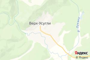 Карта с. Верх-Усугли Забайкальский край