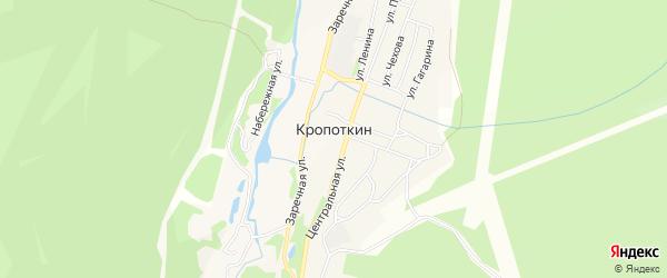Карта поселка Кропоткина в Иркутской области с улицами и номерами домов