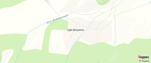 Карта села Цагакшино в Забайкальском крае с улицами и номерами домов