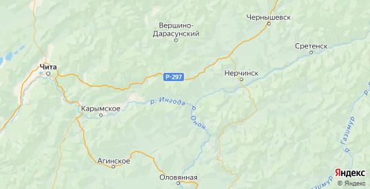 Карта Шилкинского района Забайкальского края с городами и населенными пунктами