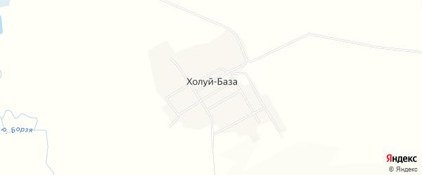Карта села Холуя-База в Забайкальском крае с улицами и номерами домов