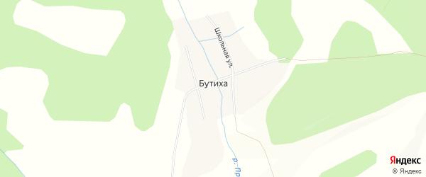 Карта села Бутиха в Забайкальском крае с улицами и номерами домов