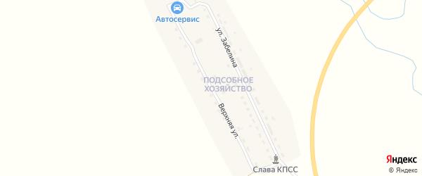 Верхняя улица на карте Шилки с номерами домов