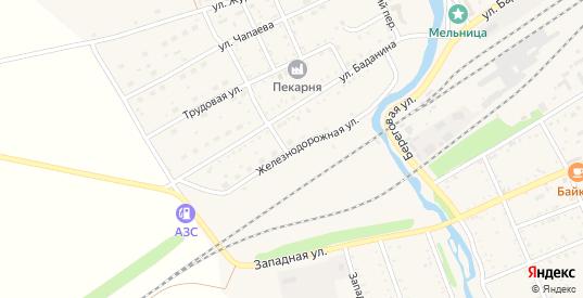 Железнодорожная улица в Шилке с номерами домов на карте. Спутник и схема онлайн