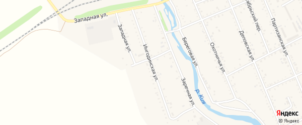Ингодинская улица на карте Шилки с номерами домов