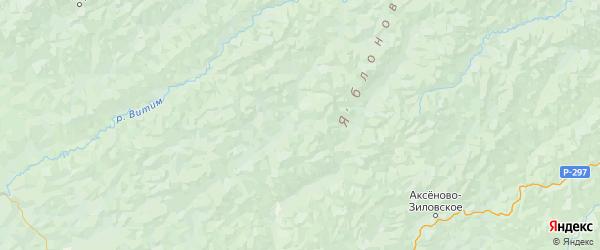 Карта Тунгокоченского района Забайкальского края с городами и населенными пунктами