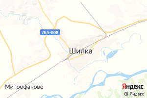 Карта г. Шилка Забайкальский край