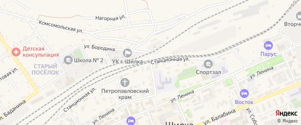 Станционная улица на карте Шилки с номерами домов