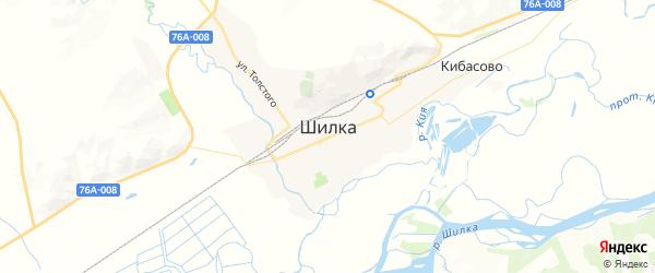 Карта Шилки с районами, улицами и номерами домов