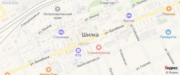 Октябрьская улица на карте Шилки с номерами домов