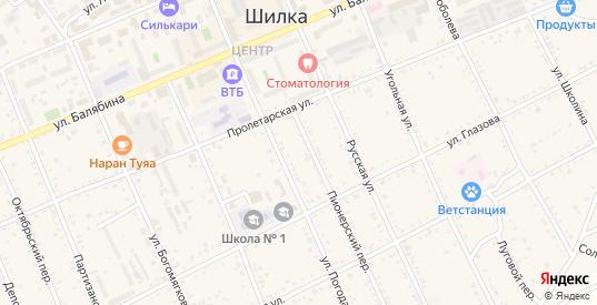 Угловой проезд в Шилке с номерами домов на карте. Спутник и схема онлайн