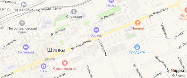 Улица Балябина на карте Шилки с номерами домов