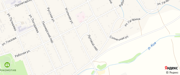 Луговой переулок на карте Шилки с номерами домов