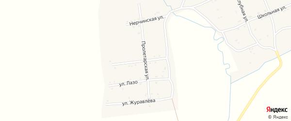 Пролетарская улица на карте села Арбагар Забайкальского края с номерами домов