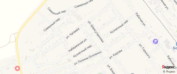 Набережная улица на карте Борзи с номерами домов