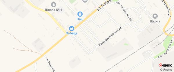Улица Олега Кошевого на карте Борзи с номерами домов