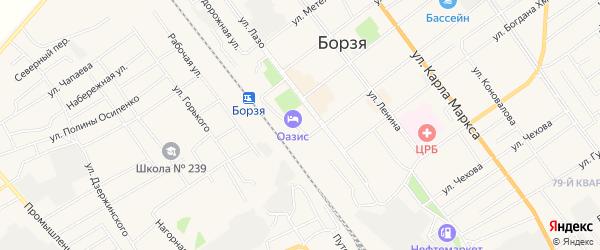 Карта разъезда Зуна-Торея города Борзи в Забайкальском крае с улицами и номерами домов