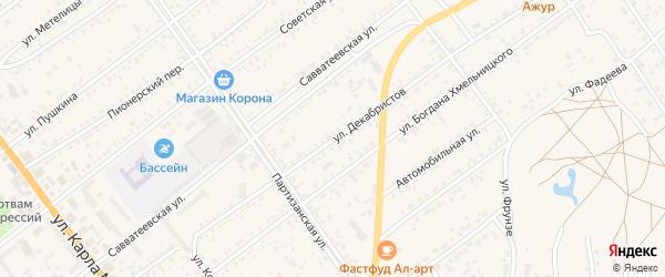 Улица Декабристов на карте Борзи с номерами домов