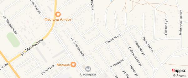 Вторая Неглинная улица на карте Борзи с номерами домов