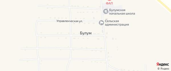 Набережная улица на карте села Булума Забайкальского края с номерами домов