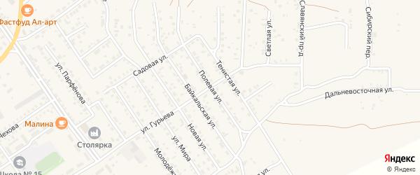 Полевая улица на карте Борзи с номерами домов