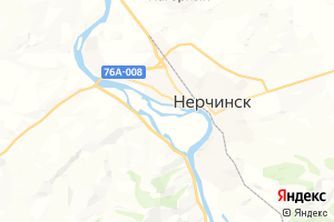 Карта г. Нерчинск Забайкальский край