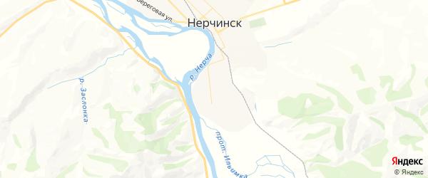 Карта Нерчинска с районами, улицами и номерами домов