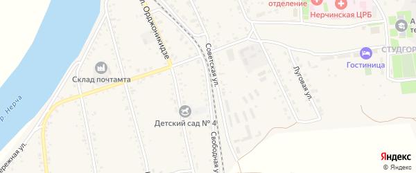 Свободная улица на карте Нерчинска с номерами домов