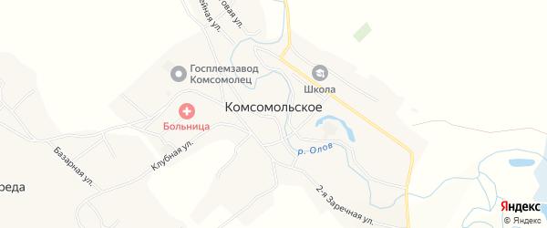 Территория ТОР Забайкалье на карте Комсомольского села Забайкальского края с номерами домов