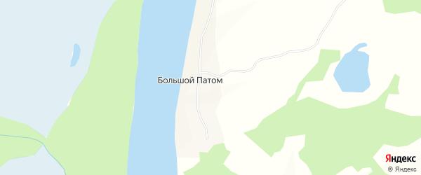 Карта села Большого Патом в Иркутской области с улицами и номерами домов