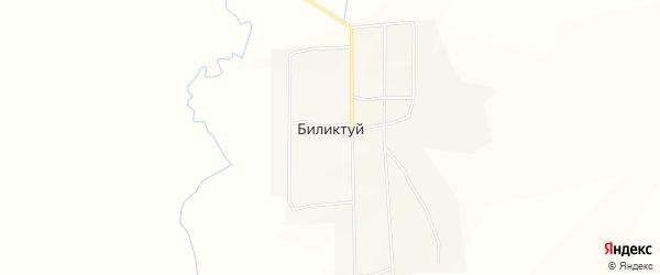Карта села Биликтуя в Забайкальском крае с улицами и номерами домов