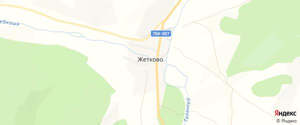 Карта села Жетково в Забайкальском крае с улицами и номерами домов