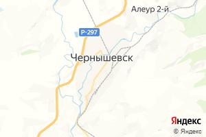 Карта пос. Чернышевск Забайкальский край