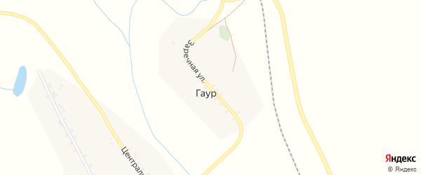 Заречная улица на карте села Гаура Забайкальского края с номерами домов