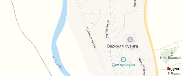 Набережная улица на карте села Верхней Куэнги Забайкальского края с номерами домов