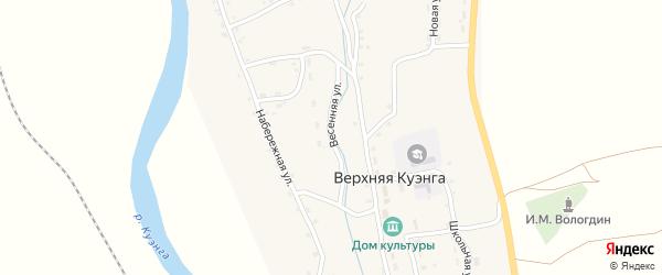 Весенняя улица на карте села Верхней Куэнги Забайкальского края с номерами домов