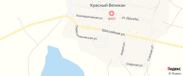 Переселенческая улица на карте поселка Красного Великана Забайкальского края с номерами домов