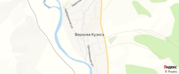 Карта села Верхней Куэнги в Забайкальском крае с улицами и номерами домов