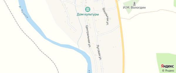 Центральная улица на карте села Верхней Куэнги Забайкальского края с номерами домов