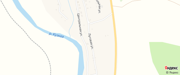 Луговая улица на карте села Верхней Куэнги Забайкальского края с номерами домов
