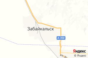 Карта пос. Забайкальск Забайкальский край