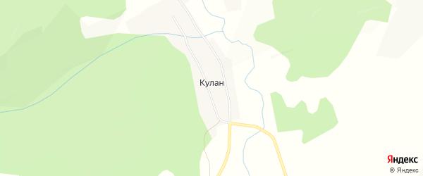 Карта села Кулана в Забайкальском крае с улицами и номерами домов