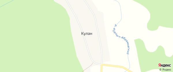 Заречная улица на карте села Кулана Забайкальского края с номерами домов